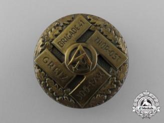 A 1934 SA Griez/Thür-Ost Brigade 41 Rally Badge