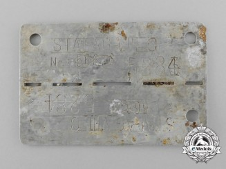 A Second War Polish POW ID Tag; STALAG VIII C