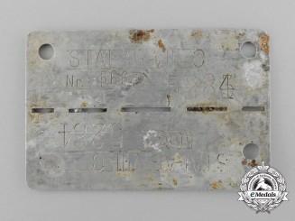 A Second War Polish POW ID Tag; STALAG VIII C