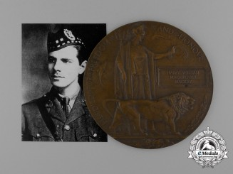 A Memorial Plaque to Ace Harry Mackay No.18 Squadron; Royal Flying Corps