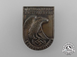 Germany. A NSDAP Westfalia-South District Day Badge, 1935