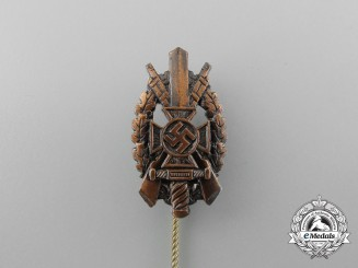 A National Socialist War Victim's Care (NSKOV) Marksmanship Badge Stick Pin
