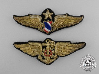Two Royal Thai Air Force Badges