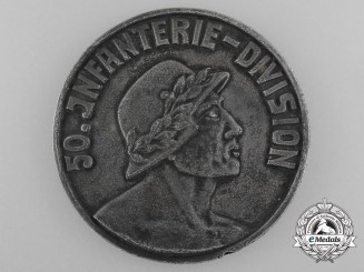 A First War 50th French Infantry Campaign Medal 1915-17