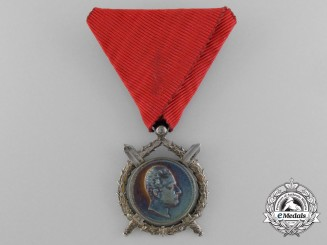 A Bulgarian Order of Military Merit 1887 in Silver 2nd Class