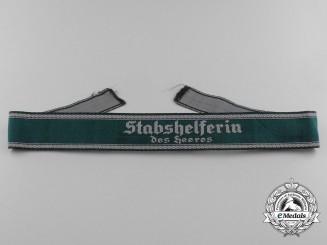 """A German Army """"Stabshelferin des Heeres"""" Cufftitle"""