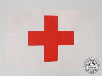 A German Red Cross (Deutsches Rotes Kreuz) Flag 1944