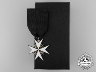 An Order of St. John; Officer Breast Badge with Case