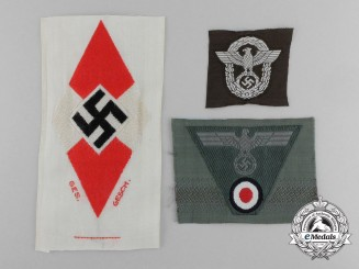 Three Third Reich Cloth Insignia