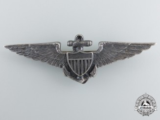A Second War American Naval Pilot Badge by A.E.Co