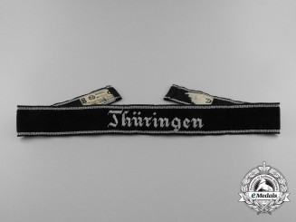 A Scarce SS Thüringen Officer's Cufftitle; RZM Tagged
