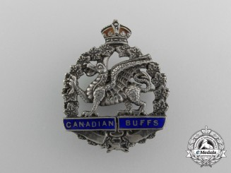 A First War 198th Infantry Canadian Battalion Sweetheart Badge