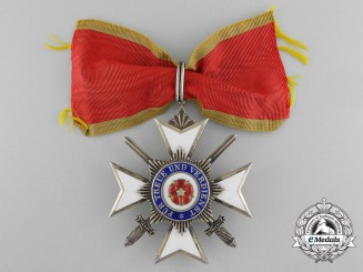 A Seldomly Awarded Lippe Merit Cross 2nd Class with Swords