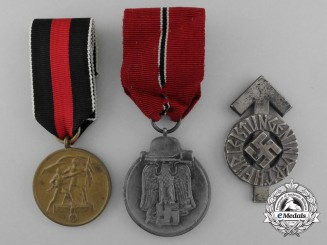 A Lot of Three Third Reich Period Medals and Awards