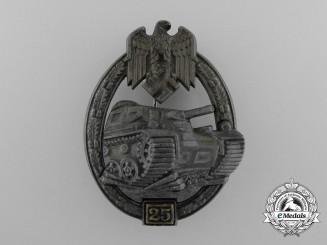 Germany, Heer. A Bronze Grade Tank Badge by Gustav Brehmer; Special Grade 25