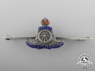 A First War Royal Canadian Field Artillery Sweetheart Badge