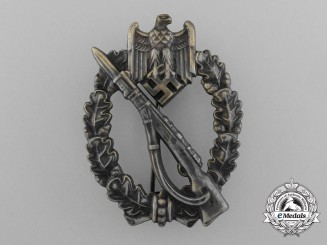 A Fine Quality Manufacture Bronze Grade Infantry Assault Badge by Ferdinand Wiedmann