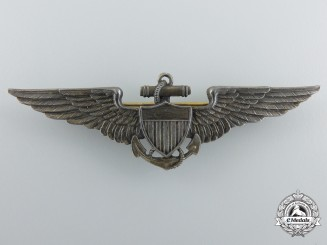 An Early 1920's American Naval Aviation Pilot Badge by Bailey, Banks & Biddle