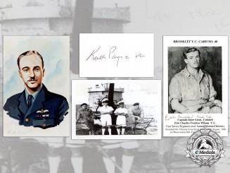 Four British Victoria Cross Recipient Signed Items