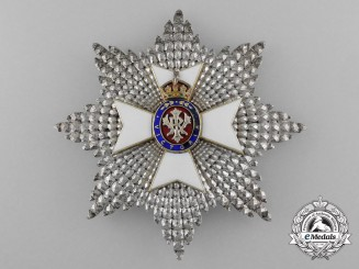 A Royal Victorian Order; Grand Cross Breast Star G.C.V.O.