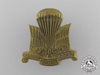 A Second War Canadian Parachute Corps Cap Badge