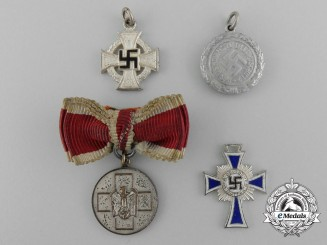 A Lot of Four Miniature Second War German Awards and Decorations