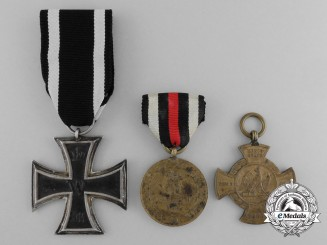 A Lot of Three Imperial German Awards, Medals, and Decorations