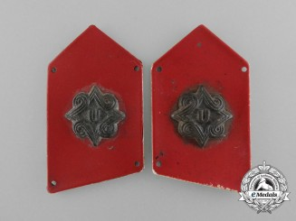 A Set of Croatian Army Staff Officers Collar Tabs; Early 1945 Period