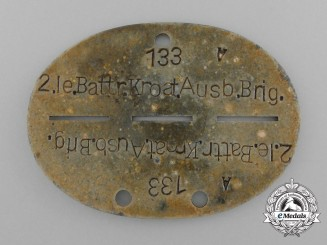 A Second War 2nd Light Battery Croatian Training Brigade ID Tag