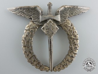 A Second War Czechoslovakian Air Force Observer's Badge