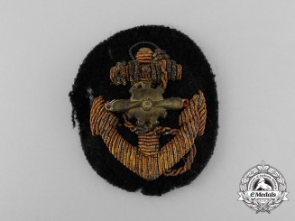 A Second War Period Japanese Naval Aviation Officer's Visor Cap Badge