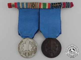 An Italian Social Republic Medal for Military Valour Pair