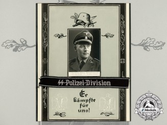 An Enlisted/NCO SS-Polizei Division Cufftitle