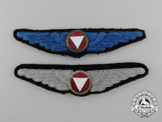 Two Austrian Air Force Branch of Service Badges  Two Austrian Air Force Branch of Service Badges