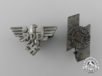 Two Miniature German Badges