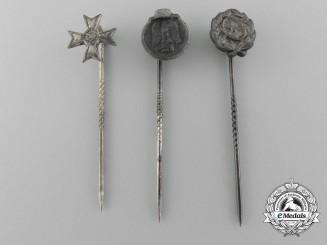 Three Miniature German Award Stickpins