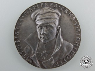 A German Imperial Death of the Red Baron Commemorative (Satirical) Medal