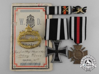 A Fine Imperial German Submariner Grouping to Chief  Machinist of Unterseeboot 19