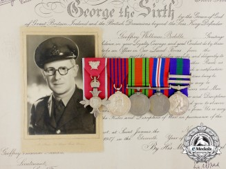 An MBE & George Medal Recipient to Major Geoffrey William Biddle; Bomb Squad