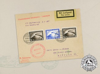 "A Historic Graf Zeppelin ""Around the World Tour"" Airmail Envelope"
