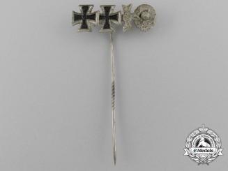 A Fine Miniature German Four Award Stickpin