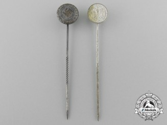 Two Wehrmacht Service and Campaign Miniature Awards