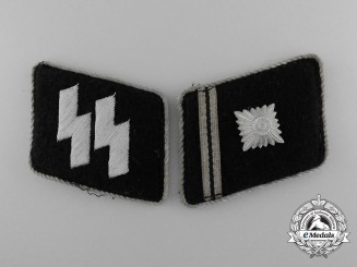 A Set of Waffen-SS Scharführer (SS-Section leader) Collar Tabs