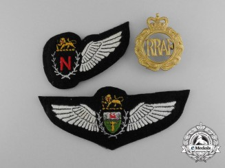 Three Rhodesian Air Force Insignia