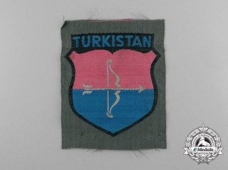 A Rare Turkestan Army Volunteers Wehrmacht Sleeve Patch