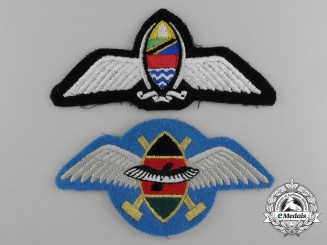 Two Air Force Pilot Wings; Kenya & Tanzania