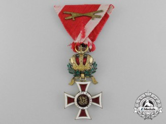 A First War 1914-1918 Austrian Order of Leopold; Knight's Badge