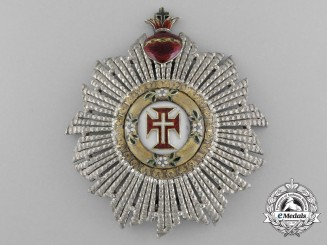 An 1875 Portuguese Order of Christ; Grand Cross Breast Star
