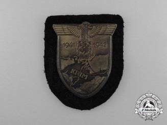 A Mint Wehrmacht Issue Panzer Krim Campaign Shield