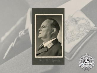 A Signed Picture Postcard of German Field Marshal of the Luftwaffe Hugo Sperrle